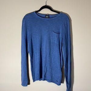 Strellson Cotton Sweater. Blue size small.